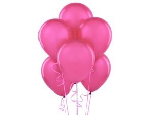 Balony w kolorze ciemnego różu