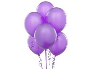 Balon w kolorze fioletowym jasnym