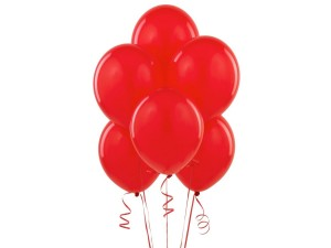 Balon lateksowy w kolorze czerwonym