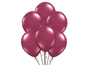 Balon w kolorze bordo