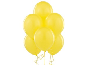 Balony lateksowe w kolorze żółtym