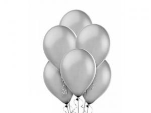 Balon metalizowany w kolorze srebrnym