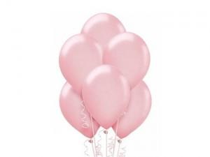 Balon metalizowany w kolorze jasno różowym