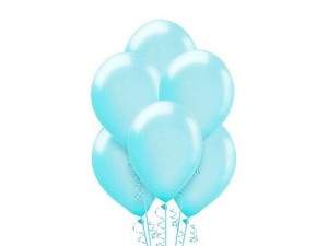 Balon metalizowany w kolorze błękitnym