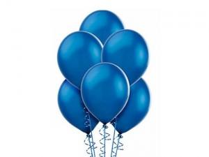Balon metalizowany w kolorze niebieskim