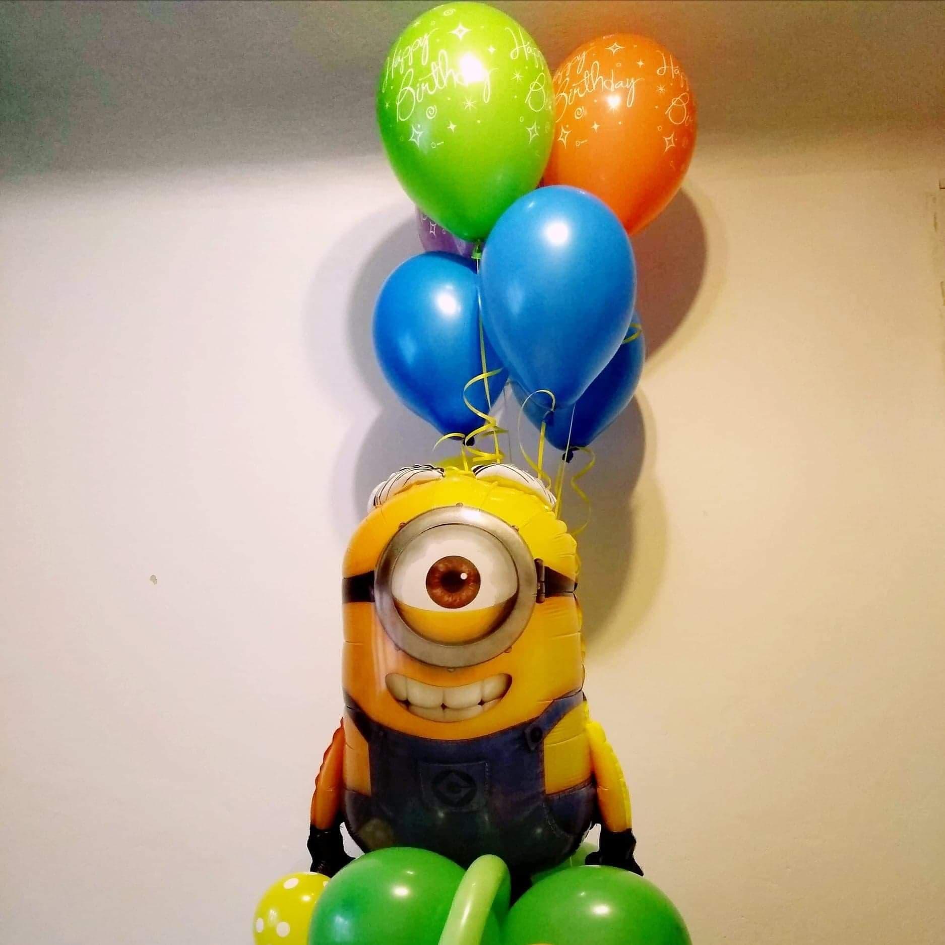 Bohaterowie bajek są często ulubionym elementem dekoracji z balonów.