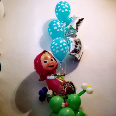 Balon Mascha to idealny element dekoracji dla maluchów.