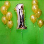 Balony z helem na 1 urodziny