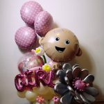 Kompozycja - balony na narodziny dziecka Warszawa