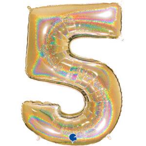 Balony w kształcie cyfr 5 na hel