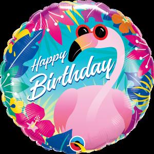L0046. Balon foliowy z helem na urodziny 18″ cali (43 cm) – flaming