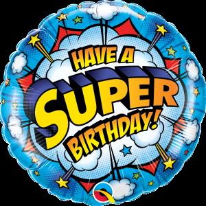 L0066. Balon foliowy z helem na urodziny 18″ cali (43 cm) – super urodziny