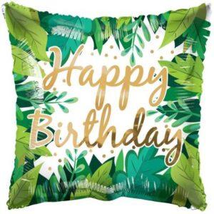 L0007. Balon foliowy z helem na urodziny 18″ cali (43 cm) EKO – leśne liście