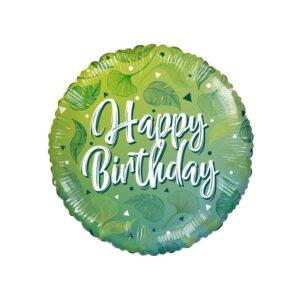 L0004. Balon foliowy z helem na urodziny 18″ cali (43 cm) EKO – liście roślin