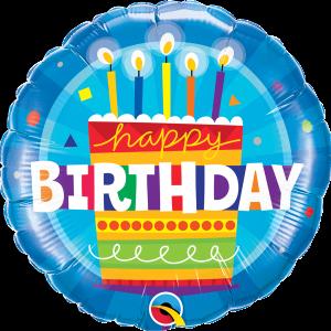 L0048. Balon foliowy z helem na urodziny 18″ cali (43 cm) – tort