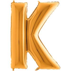 KZ11. Balony litery duże około 100 cm z helem – litera złota K