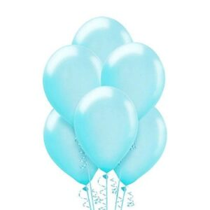 """A009. Metalizowane balony lateksowe 12"""" calowe – kolor błękitny"""