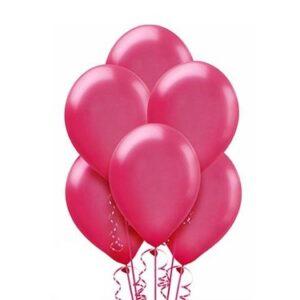 "A006. Metalizowane balony lateksowe 12"" calowe – kolor fuksja"