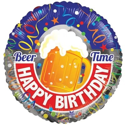 Balon urodzinowy dla mężczyzn z kuplem piwa
