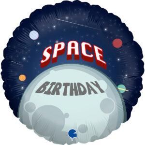 L0065. Balon foliowy z helem na urodziny 18″ cali (43 cm) – kosmiczne urodziny