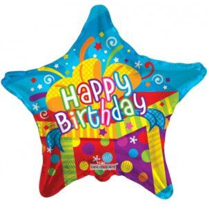L0047. Balon foliowy z helem na urodziny 18″ cali (43 cm) – prezent