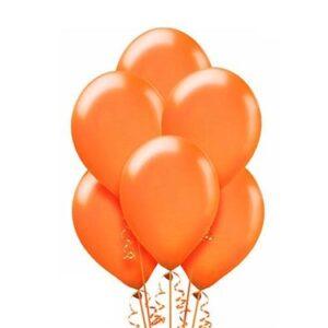 """A012. Metalizowane balony lateksowe 12"""" calowe – kolor pomarańczowy"""