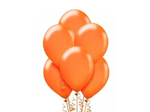 Balony lateksowe metalizowane w kolorze pomarańczowym