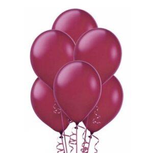 """A014. Metalizowane balony lateksowe 12"""" calowe – kolor bordowy"""