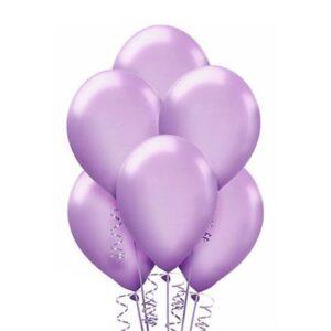 "A007. Metalizowane balony lateksowe 12"" calowe – kolor lawendowy"