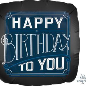 L0030. Balon foliowy z helem na urodziny 18″ cali (43 cm) – Happy Birthday filmowy