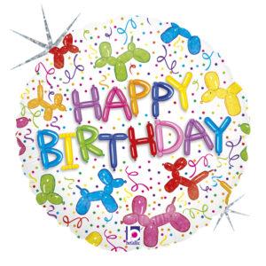 L0042. Balon foliowy z helem na urodziny 18″ cali (43 cm) – piesek z balonów