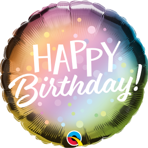 L0008. Balon foliowy z helem na urodziny 18″ cali (43 cm) – Happy Birthday