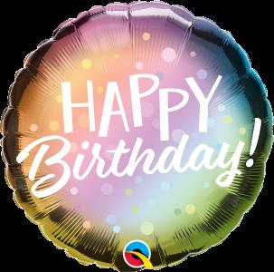 Mały balon urodzinowy z helem