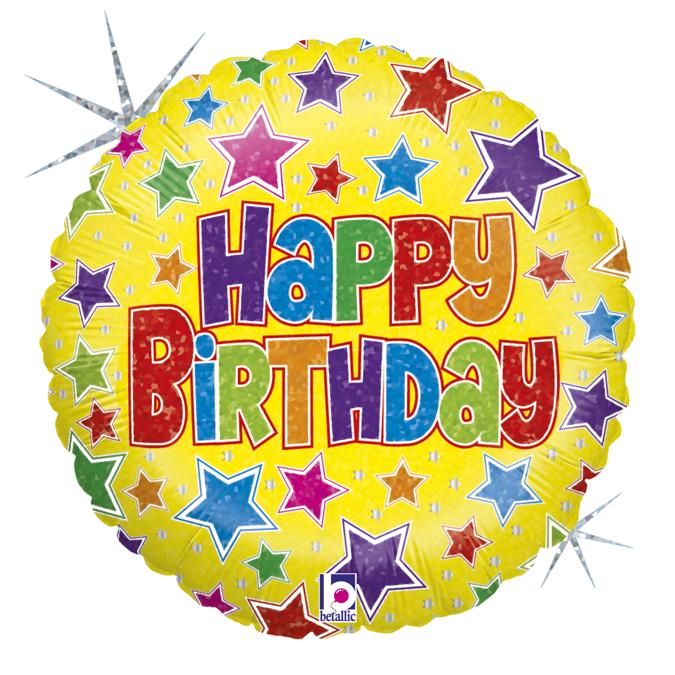 Baloniki na hel urodzinowe foliowe