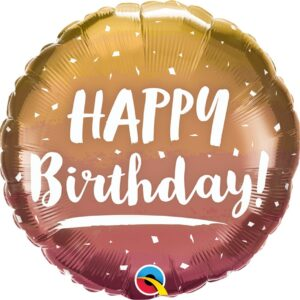 L0010. Balon foliowy z helem na urodziny 18″ cali (43 cm) – Happy Birthday
