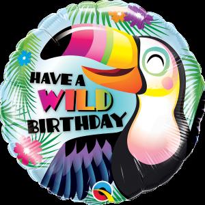 L0045. Balon foliowy z helem na urodziny 18″ cali (43 cm) – tukan