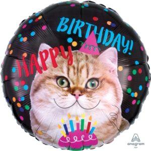 L0039. Balon foliowy z helem na urodziny 18″ cali (43 cm) – Kotek