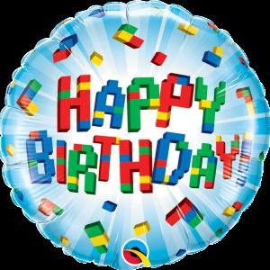 L0072. Balon foliowy z helem na urodziny 18″ cali (43 cm) – lego