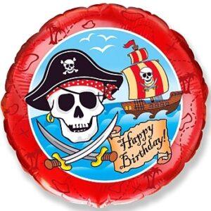 L0071. Balon foliowy z helem na urodziny 18″ cali (43 cm) – piraci