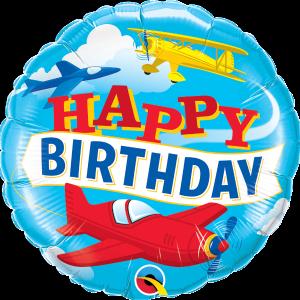 L0070. Balon foliowy z helem na urodziny 18″ cali (43 cm) – samoloty