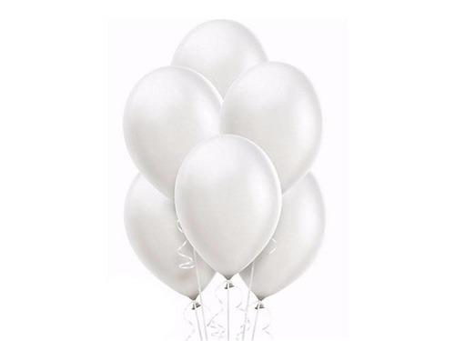 Balony z helem perłowe