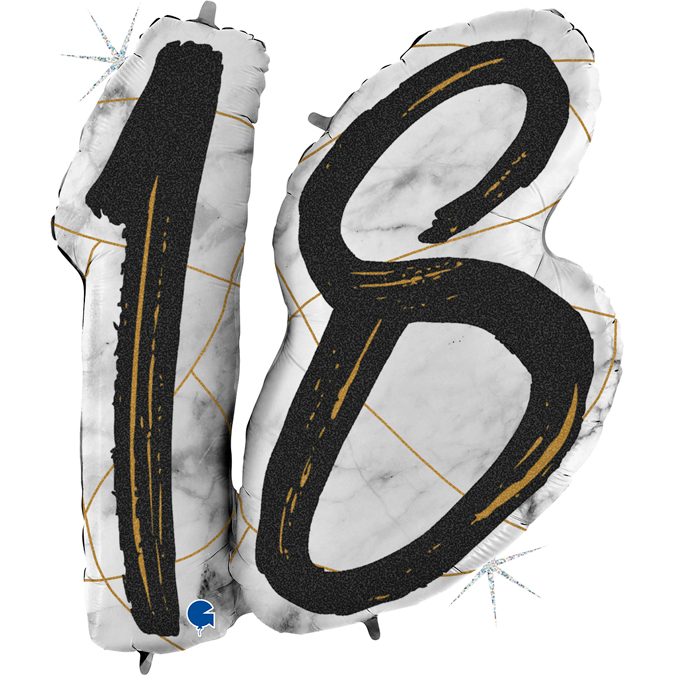 Balon 18 jeden z helem na osiemnaste urodziny