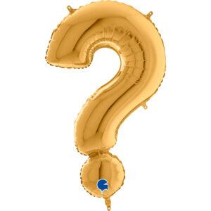 KZ29. Balony litery duże około 100 cm z helem – znak złoty ? pytajnik