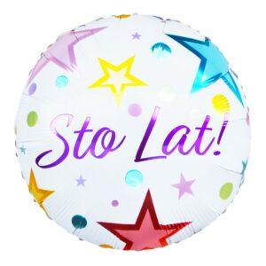 L0053. Balon foliowy z helem na urodziny 18″ cali (43 cm) – z napisem STO LAT
