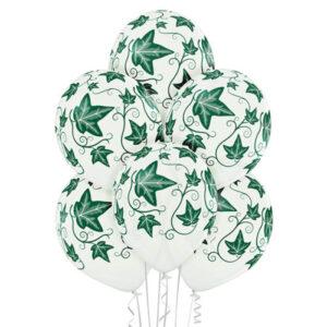 E017. Zestaw balonów dekoracyjnych / bluszcz – 6 sztuk