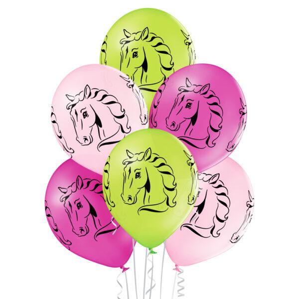Balony z helem - konie