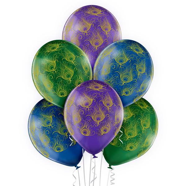 Balony z helem Warszawa - baloniki w pawie pióra