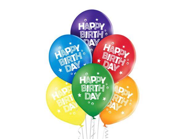 Malutkie baloniki z helem urodzinowe kolorowe