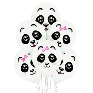 D004. Zestaw balonów ze zwierzątkami / pandy – 6 sztuk