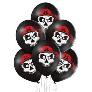 E011. Zestaw balonów dekoracyjnych / czaszki – 6 sztuk